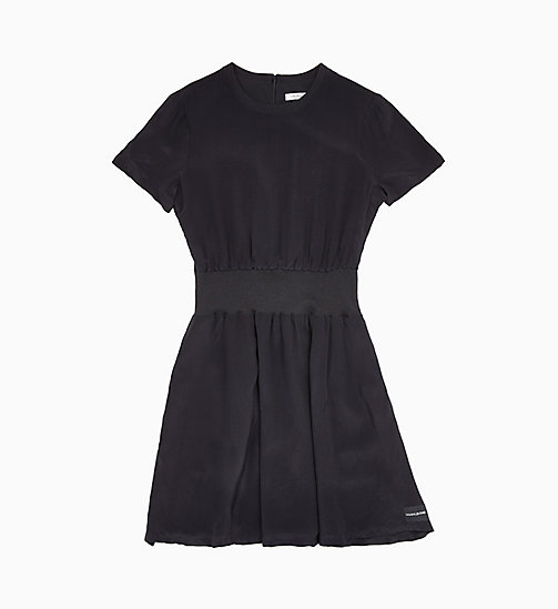 CALVIN KLEIN JEANS Crepe Fit and Flare Dress - CK BLACK - CALVIN KLEIN JEANS NEW IN - main image