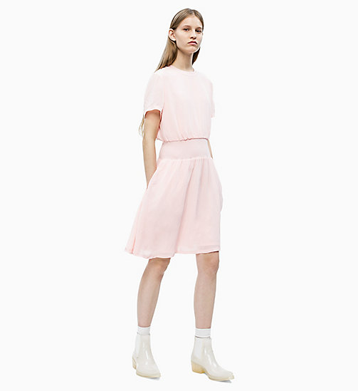 CALVIN KLEIN JEANS Crepe Fit and Flare Dress - STRAWBERRY CREAM - CALVIN KLEIN JEANS NEW IN - detail image 1