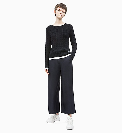 CALVIN KLEIN JEANS Belted Wide Leg Trousers - CK BLACK - CALVIN KLEIN JEANS NEW IN - detail image 1