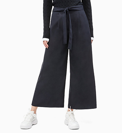 CALVIN KLEIN JEANS Belted Wide Leg Trousers - CK BLACK - CALVIN KLEIN JEANS NEW IN - main image