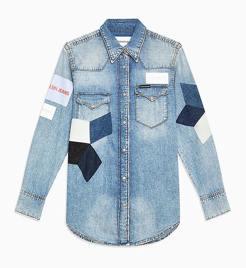 online store 97d39 6f2aa Camicia di jeans patchwork stile Western da donna da donna ...