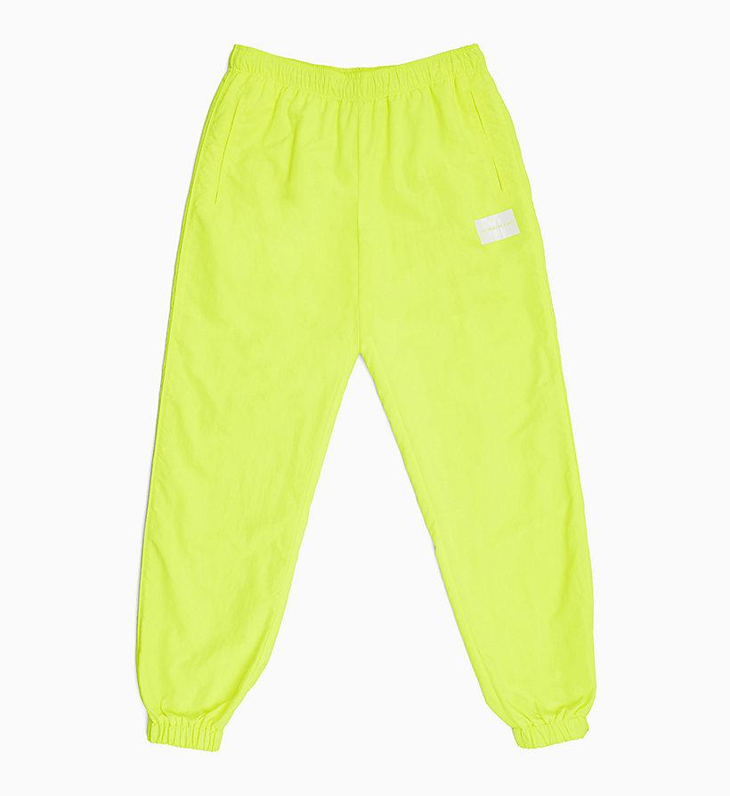 size 40 88938 20170 Pantaloni da tuta neon in nylon da donna da donna CALVIN ...