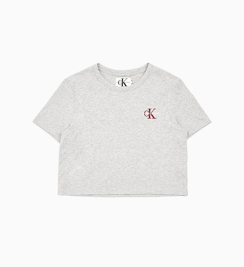 Cropped T Shirt mit Stickerei CALVIN KLEIN® | J20J211592038
