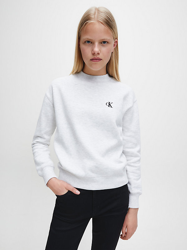 CALVIN KLEIN JEANS  - WHITE GREY HEATHER -   - main image