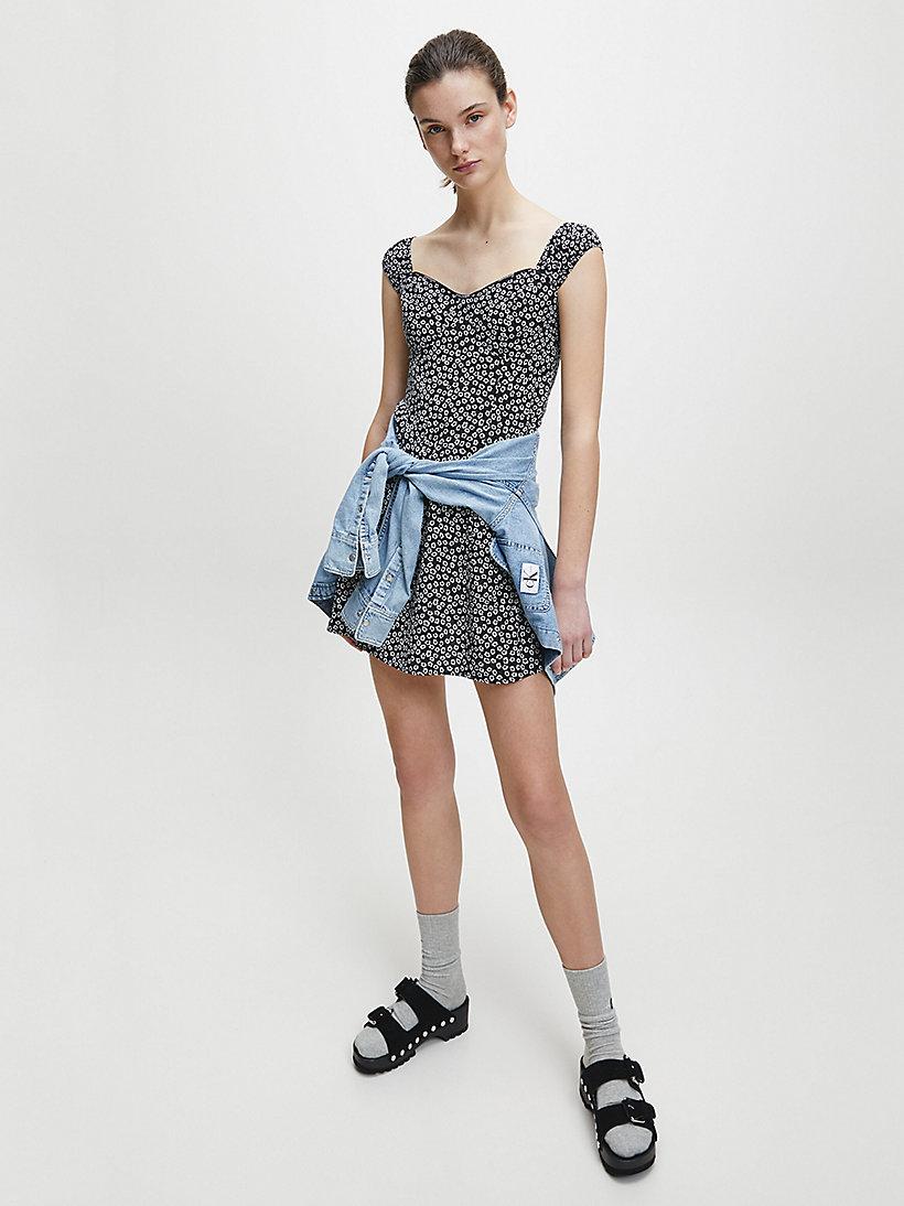Calvin Klein Jeans ditsy print dress