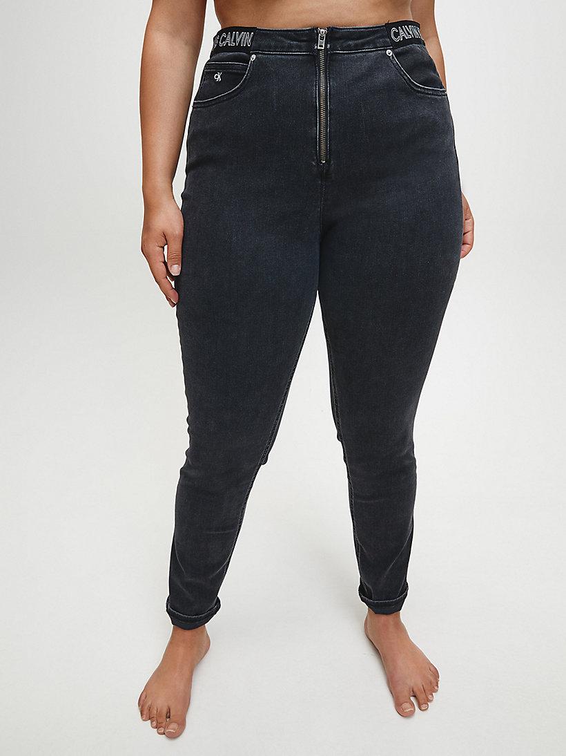 Jeans Tobilleros Skinny De Tiro Alto Plus Size Calvin Klein J20j2146031by