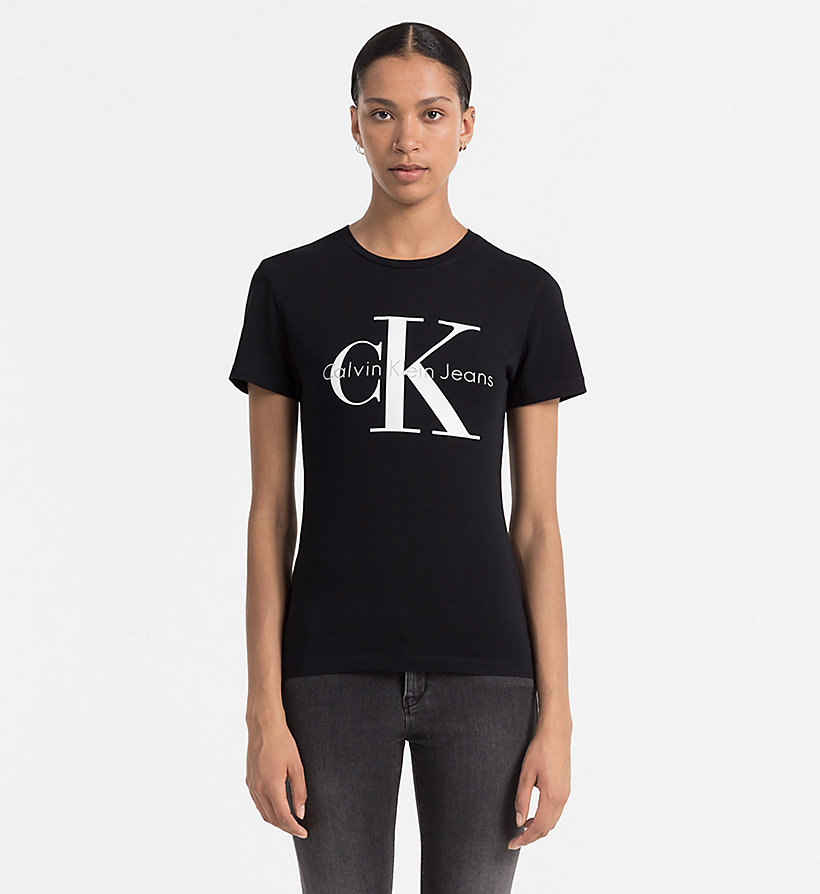 CALVIN KLEIN JEANS Logo T-shirt - LIGHT GREY HEATHER - CALVIN KLEIN JEANS WOMEN - main image