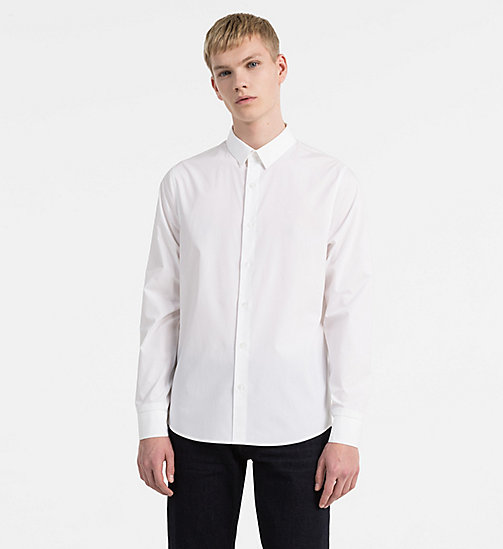 CALVIN KLEIN JEANS Slim Cotton-Stretch Shirt - BRIGHT WHITE - CALVIN KLEIN JEANS SHIRTS - main image