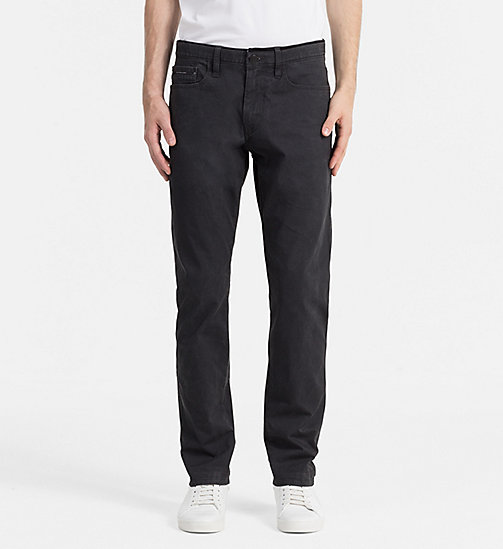 CALVIN KLEIN JEANS Slim Straight Trousers - CK BLACK - CALVIN KLEIN JEANS CLOTHES - main image