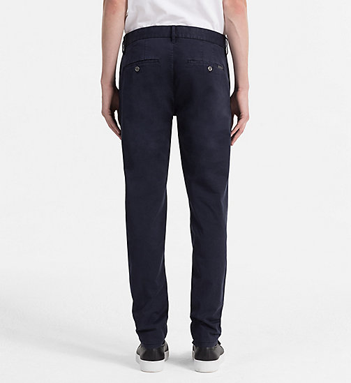 CALVIN KLEIN JEANS Regular Chino Trousers - NIGHT SKY - CALVIN KLEIN JEANS CLOTHES - detail image 1