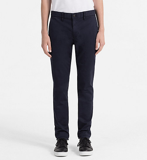 CALVIN KLEIN JEANS Regular Chino Trousers - NIGHT SKY - CALVIN KLEIN JEANS CLOTHES - main image