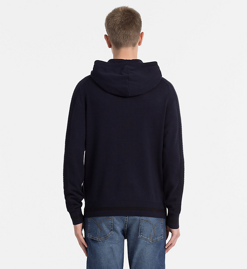 CALVIN KLEIN JEANS Hooded Zip-Through Cardigan - CK BLACK - CALVIN KLEIN JEANS JUMPERS - detail image 2