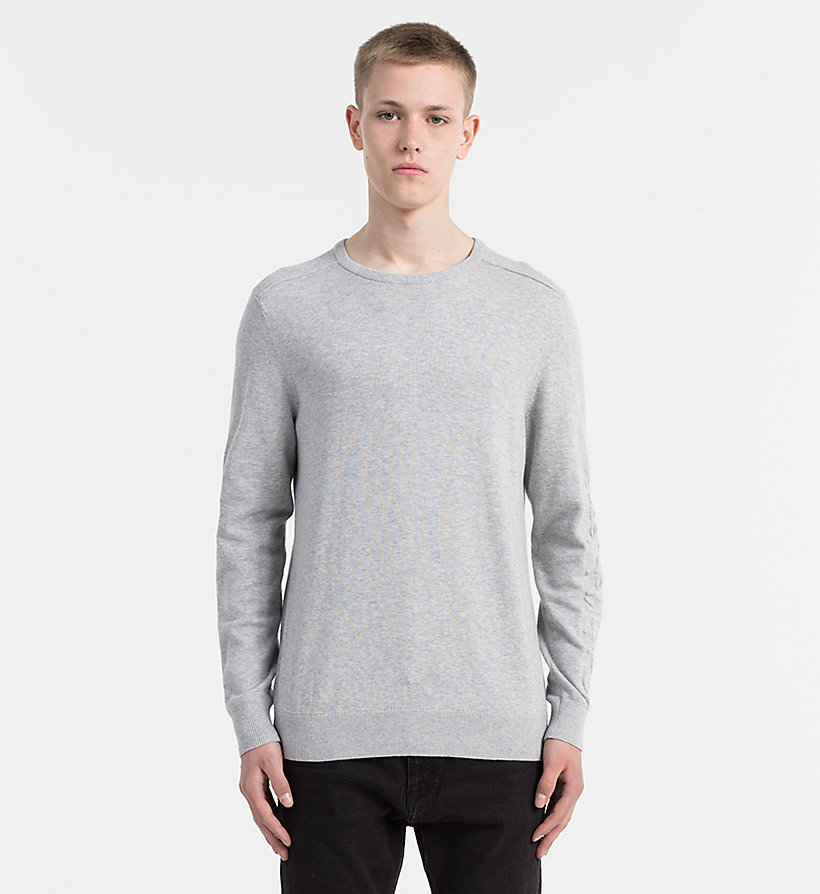 CALVIN KLEIN JEANS Embossed Logo Sweater - CK BLACK - CALVIN KLEIN JEANS JUMPERS - main image