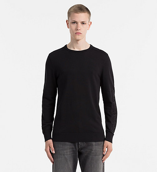 CALVIN KLEIN JEANS Embossed Logo Sweater - CK BLACK - CALVIN KLEIN JEANS CLOTHES - main image