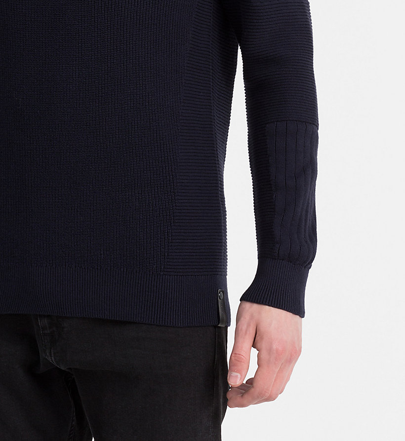 CALVIN KLEIN JEANS Textured Knit Sweater - SAILOR BLUE - CALVIN KLEIN JEANS JUMPERS - detail image 3