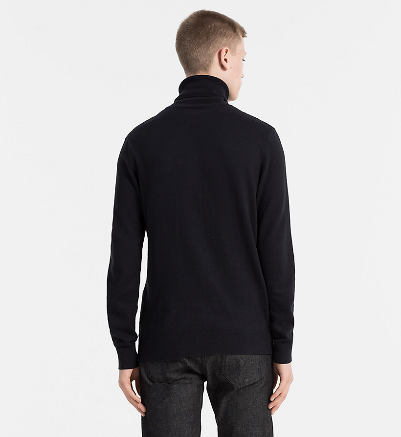 CALVIN KLEIN JEANS Cotton Cashmere Turtleneck Sweater - MID GREY HEATHER - CALVIN KLEIN JEANS JUMPERS - detail image 2