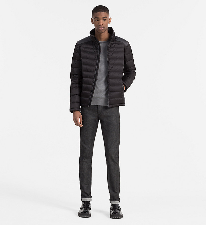 CALVIN KLEIN JEANS Packable Quilted Down Jacket - NIGHT SKY/CK BLACK - CALVIN KLEIN JEANS MEN - detail image 1