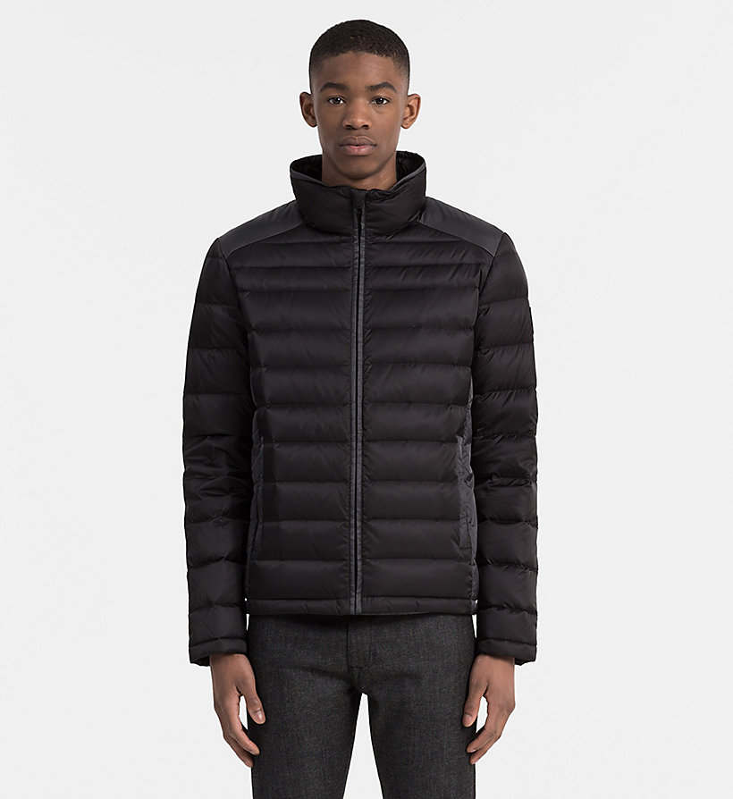 CALVIN KLEIN JEANS Packable Quilted Down Jacket - NIGHT SKY/CK BLACK - CALVIN KLEIN JEANS MEN - main image