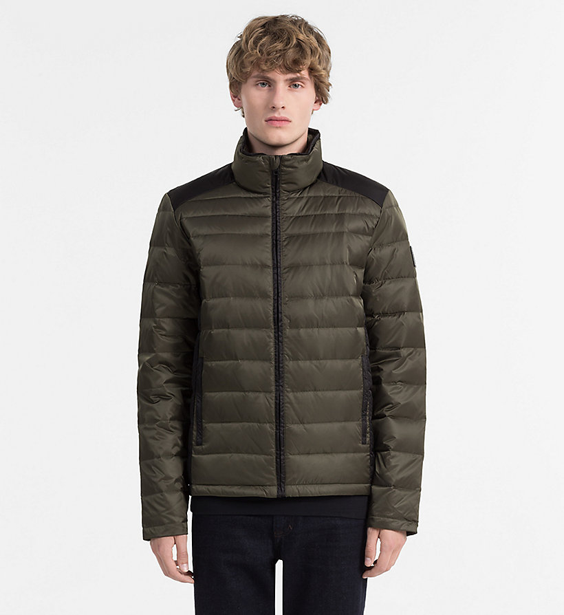 CALVIN KLEIN JEANS Packable Quilted Down Jacket - CK BLACK - CALVIN KLEIN JEANS MEN - main image