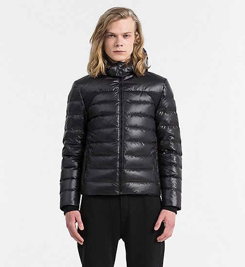 CALVIN KLEIN JEANS Hooded Down Jacket - CK BLACK - CALVIN KLEIN JEANS CLOTHES - main image