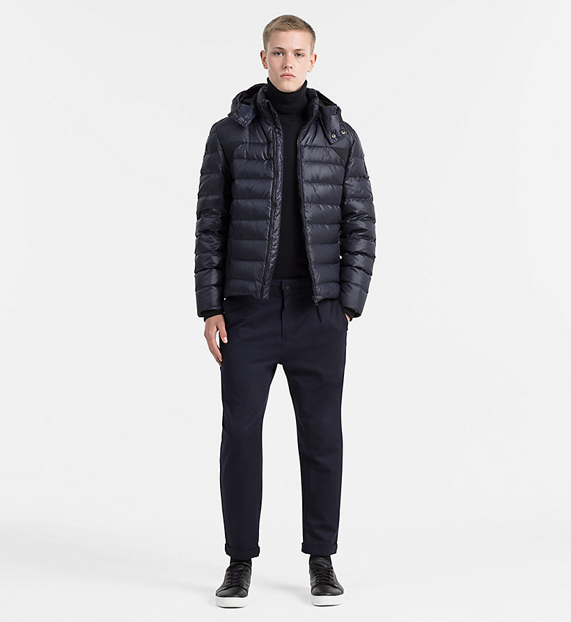CALVIN KLEIN JEANS Hooded Down Jacket - CK BLACK - CALVIN KLEIN JEANS MEN - detail image 1