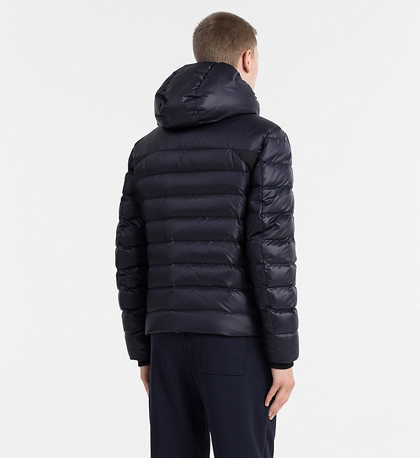 CALVIN KLEIN JEANS Hooded Down Jacket - CK BLACK - CALVIN KLEIN JEANS MEN - detail image 2