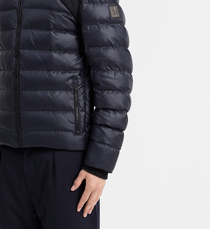 CALVIN KLEIN JEANS Hooded Down Jacket - CK BLACK - CALVIN KLEIN JEANS MEN - detail image 3