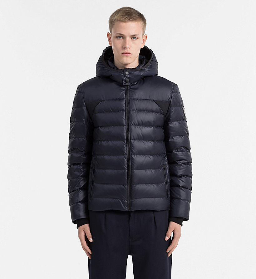 CALVIN KLEIN JEANS Hooded Down Jacket - CK BLACK - CALVIN KLEIN JEANS MEN - main image