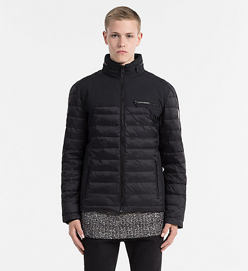 CALVIN KLEIN JEANS Material Mix Padded Jacket - CK BLACK - CALVIN KLEIN JEANS CLOTHES - main image