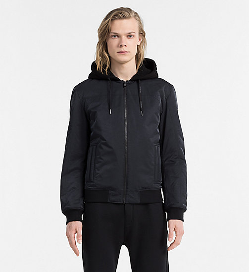 CALVIN KLEIN JEANS Padded Bomber Jacket - CK BLACK - CALVIN KLEIN JEANS CLOTHES - main image