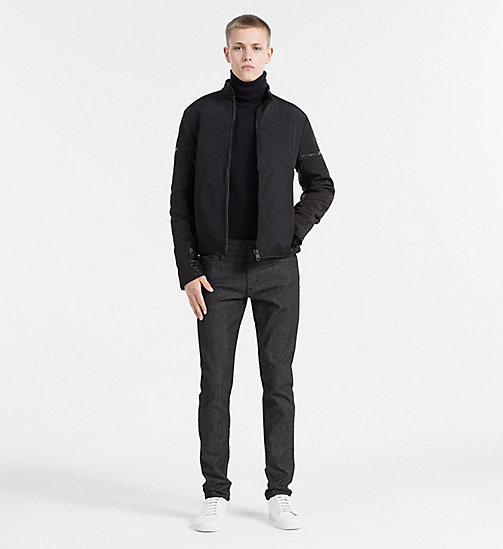 CALVIN KLEIN JEANS Padded Racer Jacket - CK BLACK - CALVIN KLEIN JEANS CLOTHES - detail image 1