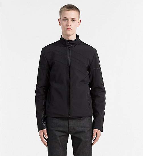 CALVIN KLEIN JEANS Padded Racer Jacket - CK BLACK - CALVIN KLEIN JEANS CLOTHES - main image