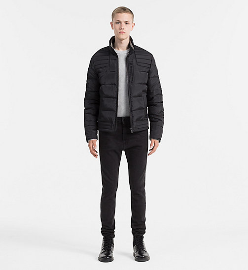CALVIN KLEIN JEANS Glossy Quilted Jacket - CK BLACK - CALVIN KLEIN JEANS CLOTHES - detail image 1