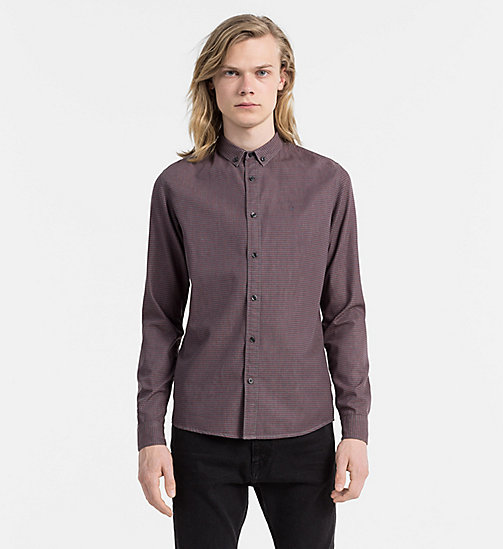 CALVIN KLEIN JEANS Printed Chambray Shirt - DARK GREY HEATHER - CALVIN KLEIN JEANS CLOTHES - main image