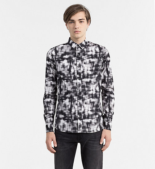 CALVIN KLEIN JEANS Slim Printed Shirt - SCRATCH CHECK AOP - CALVIN KLEIN JEANS CLOTHES - main image