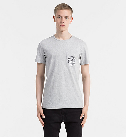 CALVIN KLEIN JEANS Organic Cotton T-shirt - LIGHT GREY HEATHER - CALVIN KLEIN JEANS CLOTHES - main image