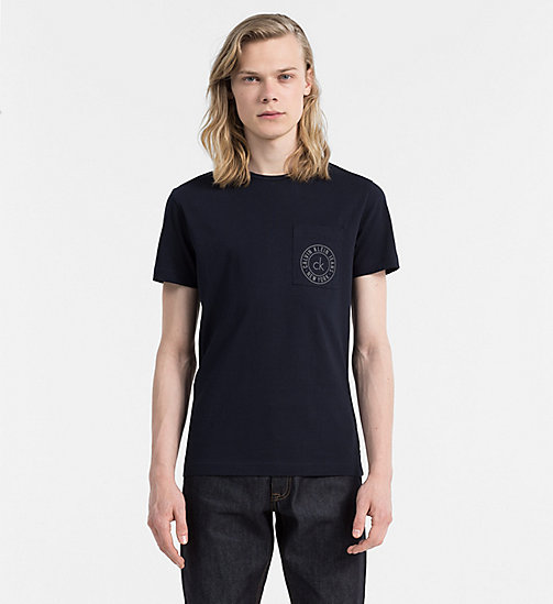 CALVIN KLEIN JEANS Organic Cotton T-shirt - NIGHT SKY - CALVIN KLEIN JEANS CLOTHES - main image