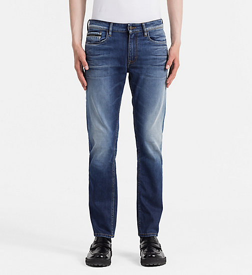 CALVIN KLEIN JEANS Slim Straight Jeans - POWER BLUE - CALVIN KLEIN JEANS CLOTHES - main image