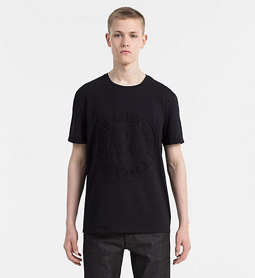CALVIN KLEIN JEANS Embossed Logo T-shirt - CK BLACK - CALVIN KLEIN JEANS CLOTHES - main image