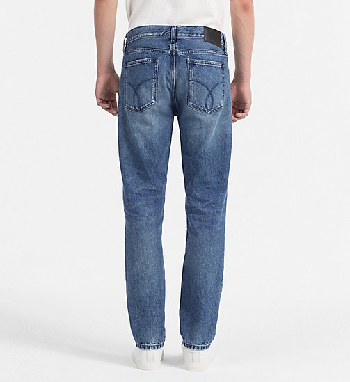 CALVIN KLEIN JEANS Straight Tapered Jeans - IRVING BLUE - CALVIN KLEIN JEANS NEW NECESSITIES - detail image 1