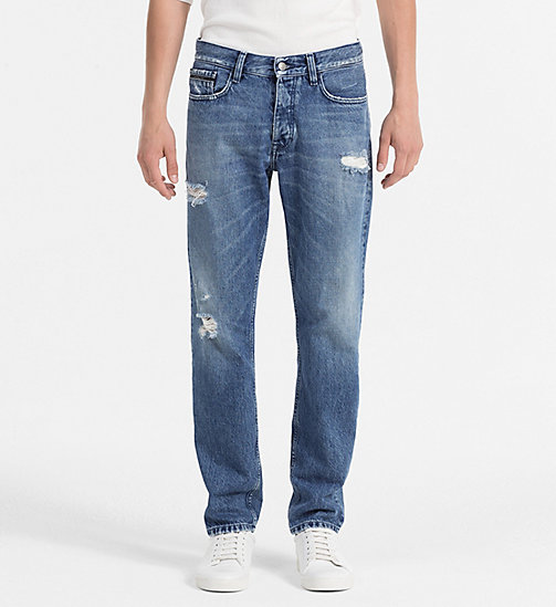 CALVIN KLEIN JEANS Straight Tapered Jeans - IRVING BLUE - CALVIN KLEIN JEANS NEW NECESSITIES - main image