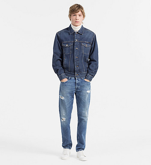 CALVIN KLEIN JEANS Giacca trucker in jeans - BOWERY BLUE - CALVIN KLEIN JEANS JEANS SU JEANS - dettaglio immagine 1