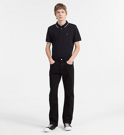 CALVIN KLEIN JEANS Pima Cotton Piqué Polo - CK BLACK - CALVIN KLEIN JEANS NEW IN - detail image 1