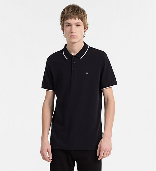 CALVIN KLEIN JEANS Slim Pima Cotton Piqué Polo - CK BLACK -  CLOTHES - main image