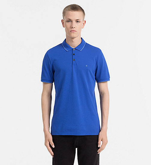CALVIN KLEIN JEANS Pima Cotton Piqué Polo - OLYMPIAN BLUE -  CLOTHES - main image