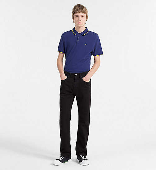 CALVIN KLEIN JEANS Slim Pima Cotton Piqué Polo - BLUE DEPTHS - CALVIN KLEIN JEANS CLOTHES - detail image 1