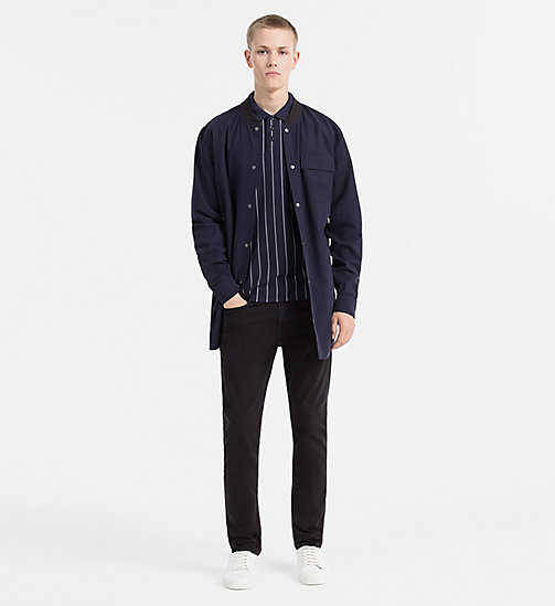 CALVIN KLEIN JEANS Cotton Piqué Stripe Polo - NIGHT SKY - CALVIN KLEIN JEANS POLO SHIRTS - detail image 1