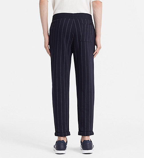 CALVIN KLEIN JEANS Pinstripe Sweatpants - NIGHT SKY - CALVIN KLEIN JEANS TROUSERS - detail image 1
