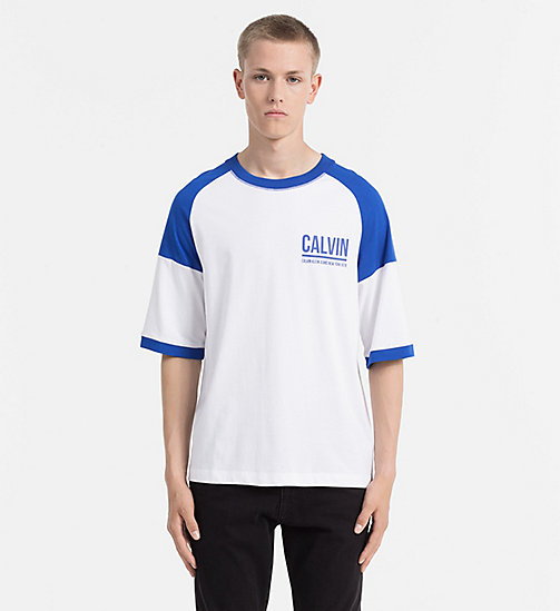 CALVIN KLEIN JEANS Sporty Logo T-shirt - OLYMPIAN BLUE - CALVIN KLEIN JEANS CLOTHES - main image