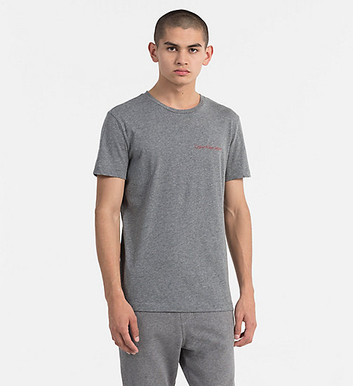 CALVIN KLEIN JEANS Organic Cotton T-shirt - MID GREY HEATHER - CALVIN KLEIN JEANS NEW IN - main image